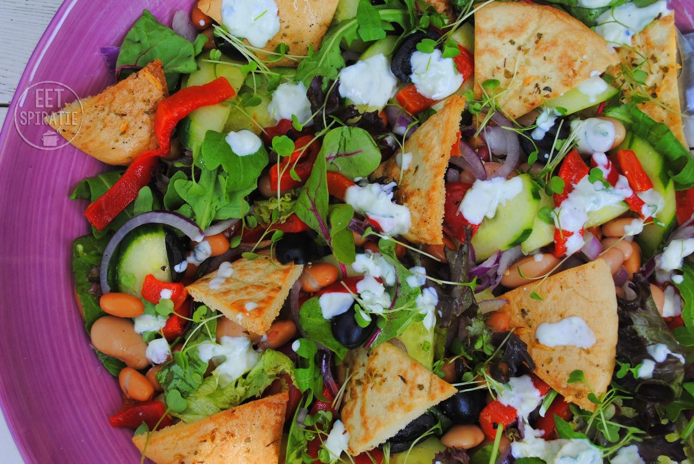 Pitachips salade met RucolaCress