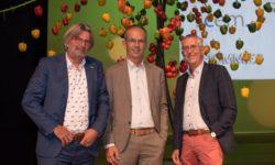 Bestuursleden stichting Food for a better lifestyle vlnr Rob Baan Koppert Cress; Koen Joosten Erasmus MC en Gert Mulder GroentenFruit Huis