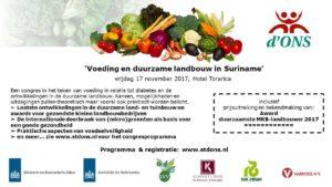 Advertentie Voeding en duurzame landbouw in Suriname
