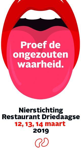 Start landelijke Nierstichting Restaurant Driedaagse 2019