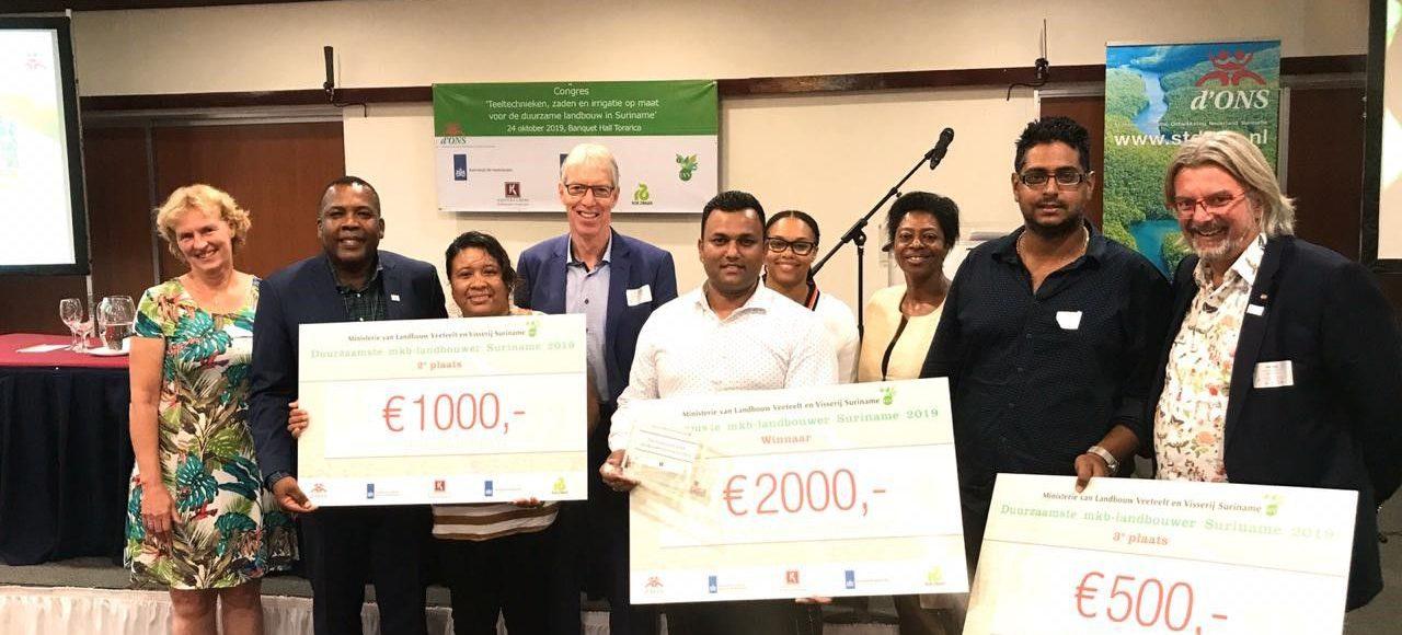 Stichting d'ONS: Green Grow Garden meest duurzame landbouwbedrijf van Suriname